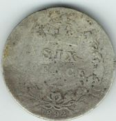 Victoria, Silver (.925), Jubilee Head Sixpence 1892, Poor, M10069